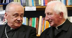 Bishop John Magee and Monsignor Denis O'Callaghan